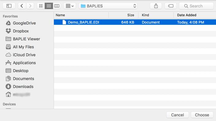 How to upload a BAPLIE    | BVO - Documentation